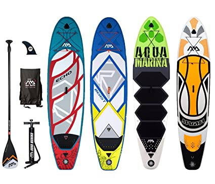 Aqua Marina prosperar Echo Bestia Magma hinchable Stand Up Paddle Board SUP por dos pies descalzos