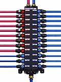 Viega 36183 1/2-Inch PureFlow Zero Lead Compression Manabloc With 18 Ports - 8 Hot 10 Cold