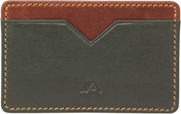 A-SLIM Nano Yaiba - Minimalists Wallet - Small Leather Cardholder - Card Sleeve - 2 Card Slots and Central Slip Pocket