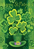 Toland - Shamrockin' - Decorative Patrick Saint Pat Clover Shamrock Green USA-Produced Garden Flag