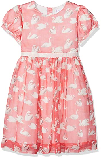 5103cc308 Rachel Riley Girl's Swan Party Dress Pink (Poppy Red), 5 Years (Size