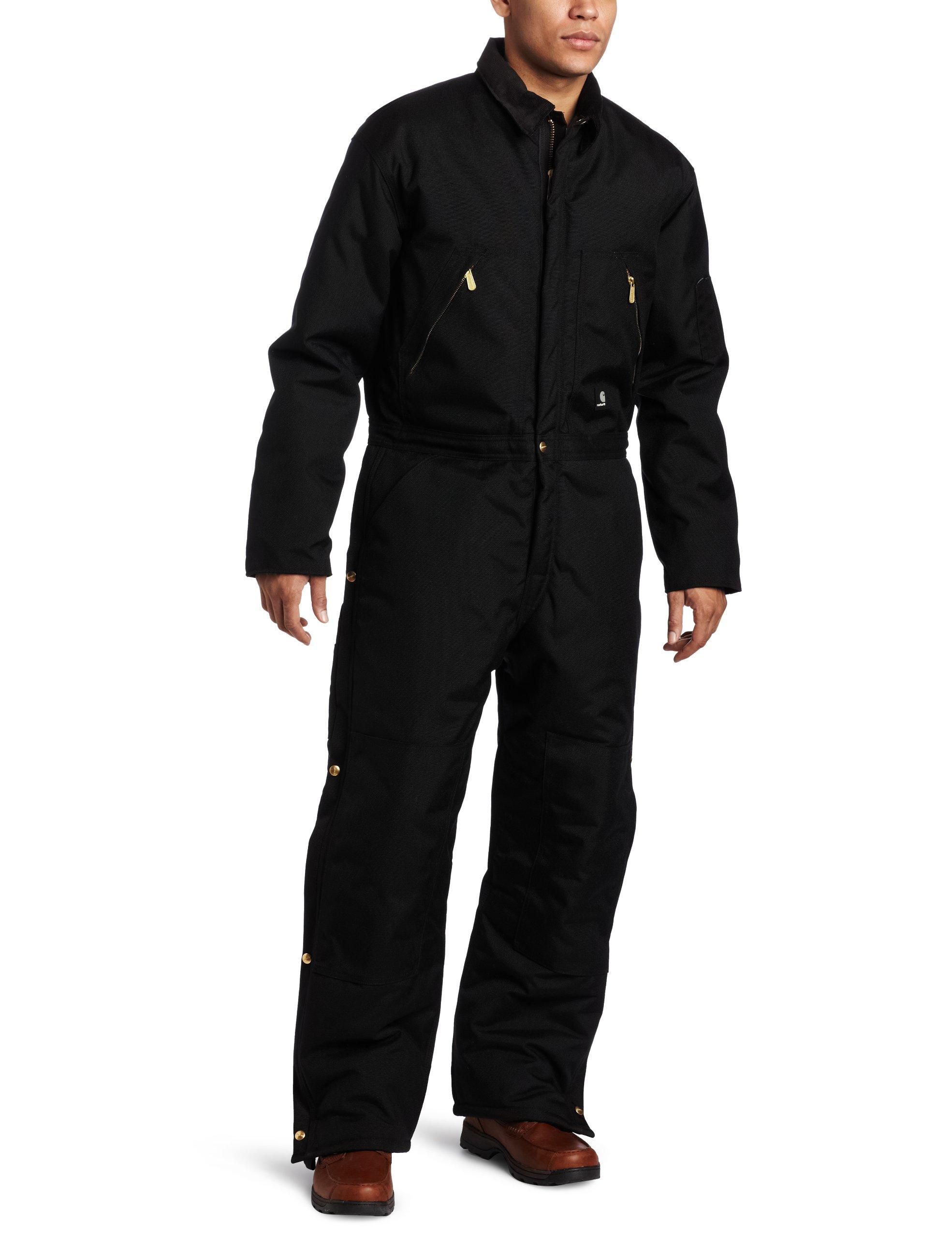 Carhartt Men's Arctic Quilt Lined Yukon Coveralls,Black,50