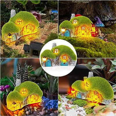 Garten Gnom Statue Solar LED Gnom Figur Lichter für Outdoor Yard Lawn W4E4