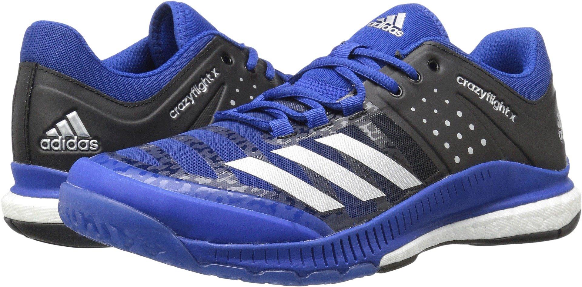adidas Women's Crazyflight X Cross-Trainer-Shoes,Collegiate Royal/Metallic Silver/Black,8.5
