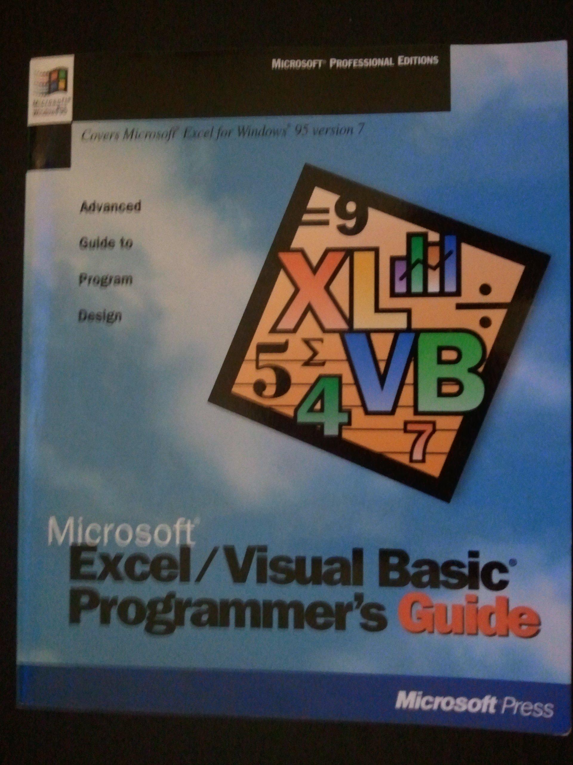 Microsoft Excel/Visual Basic Programmer's Guide: Advanced Guide to Program  Design (Microsoft Professional Editions): Microsoft Press: 9781556158193:  ...