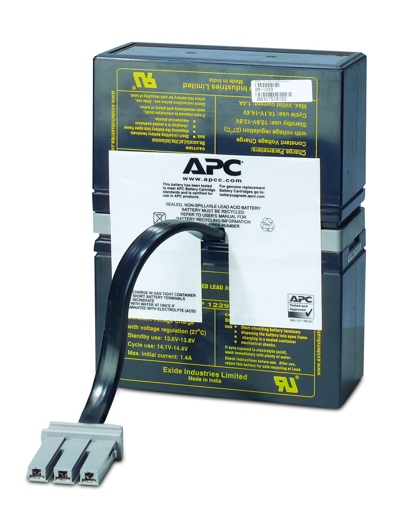 APC UPS Replacement Battery Cartridge for APC UPS Models BR1000, BX1000, BN1050 and select others (RBC32) by APC