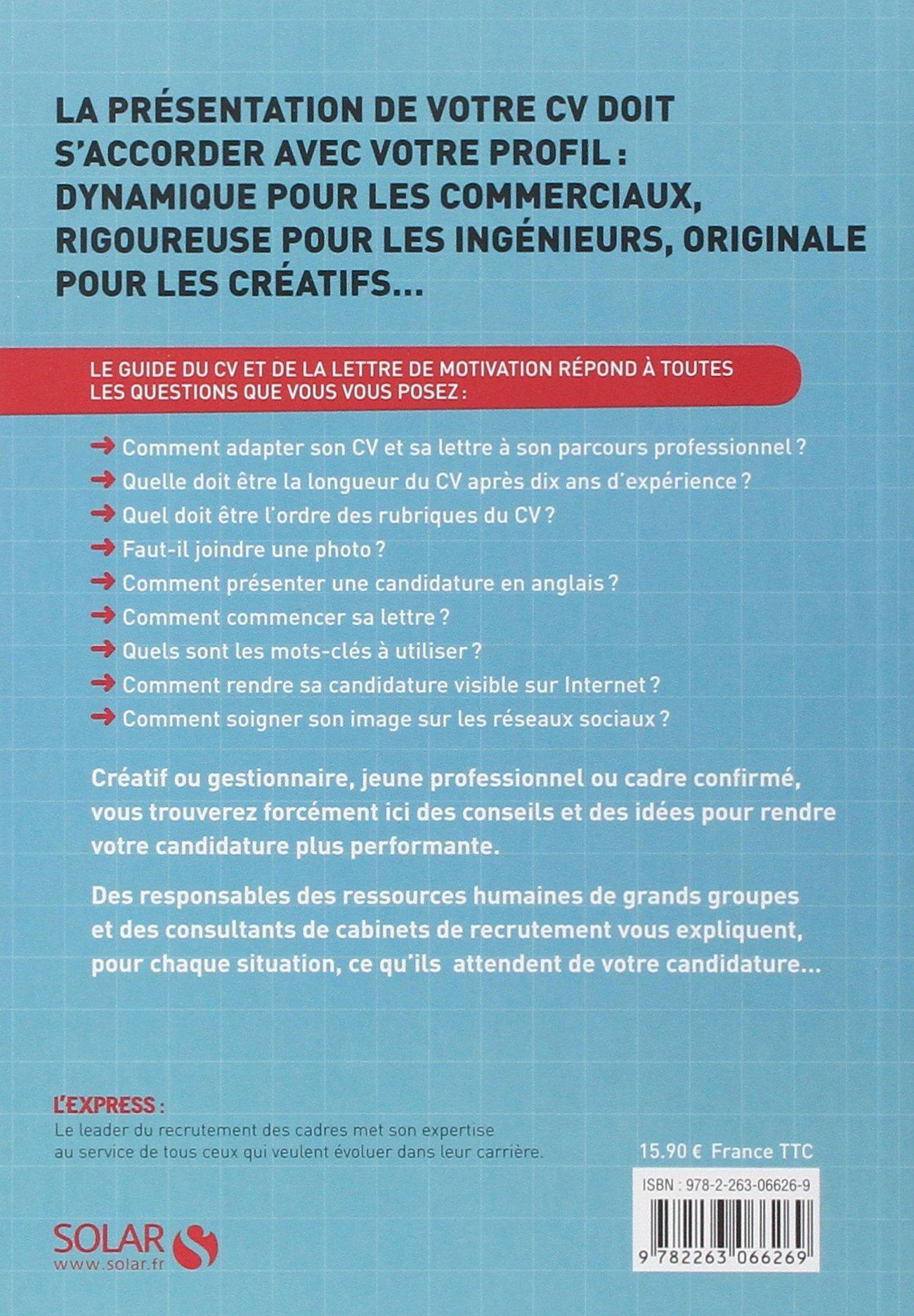 Le Guide Du Cv Et De La Lettre De Motivation 9782263066269 Amazon