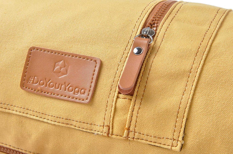 #DoYourYoga Yogatasche /»Sunita hochwertigem Canvas Segeltuch //die Tasche ist f/ür Yogamatten bis zu Einer Gr/ö/ße von 186 x 61 x 0,6 cm//in 9 farbenfrohen Farbvarianten