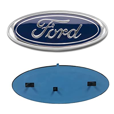 "Enterprises 2005-2014 Ford F150 Dark Blue Oval 9"" X 3.5"" Front Grille Replacement Badge Emblem Medallion Name Plate: Automotive"