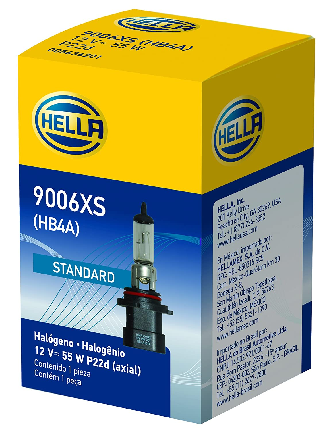 Amazon.com: HELLA H71071442 Optilux XB Series 9006XS Xenon White Halogen Bulbs, 12V, 55W, 2 Pack: Automotive