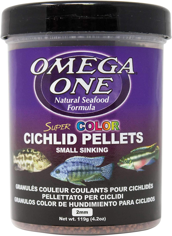 Omega One Super Color Sinking Cichlid Pellets, 2mm Small Pellets
