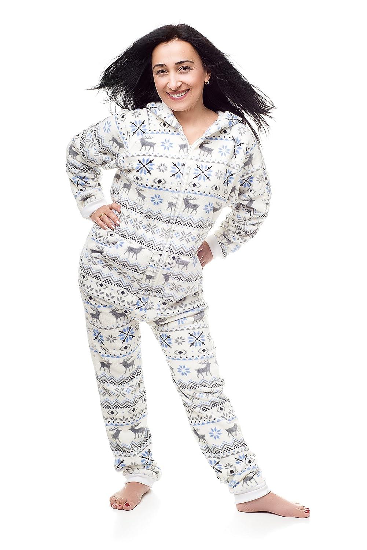 Kajamaz Pijama Entero sin pies para Adultos -Go-Jamz- de Navidad, Pijama Entero sin pies para Mujer, Pijama de una Pieza para Mujer: Amazon.es: Ropa y ...