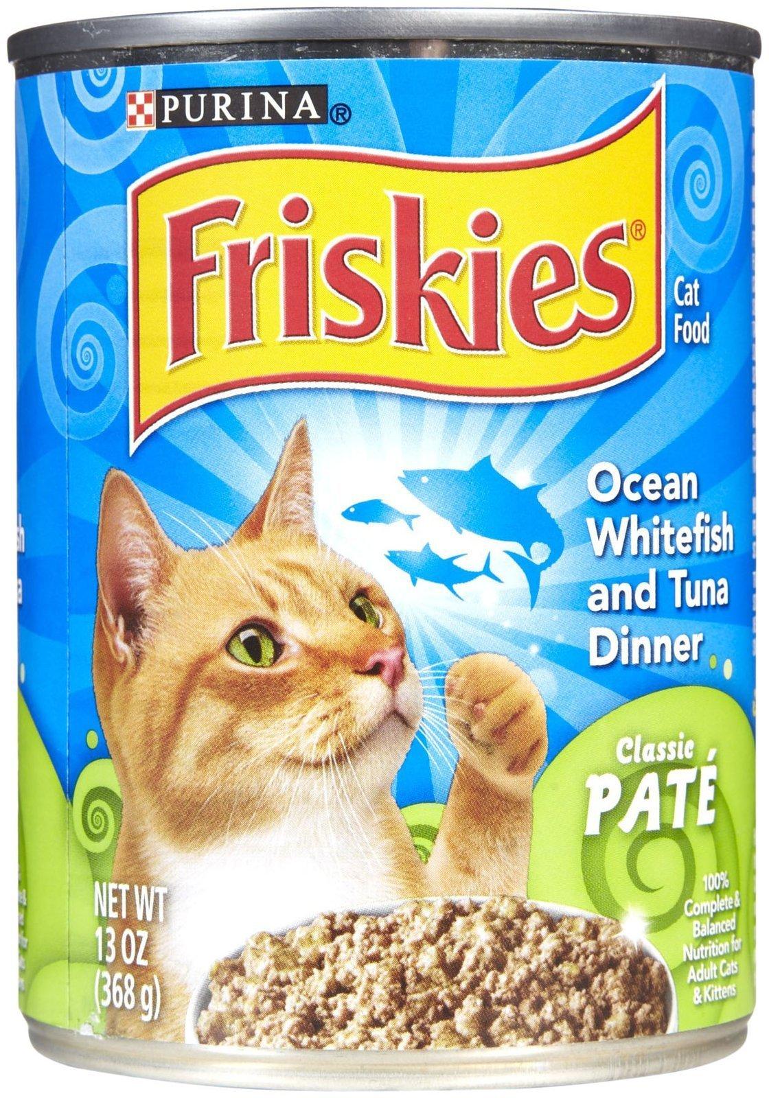 Friskies Classic Pate - Ocean Whitefish & Tuna Dinner - 12x13 oz