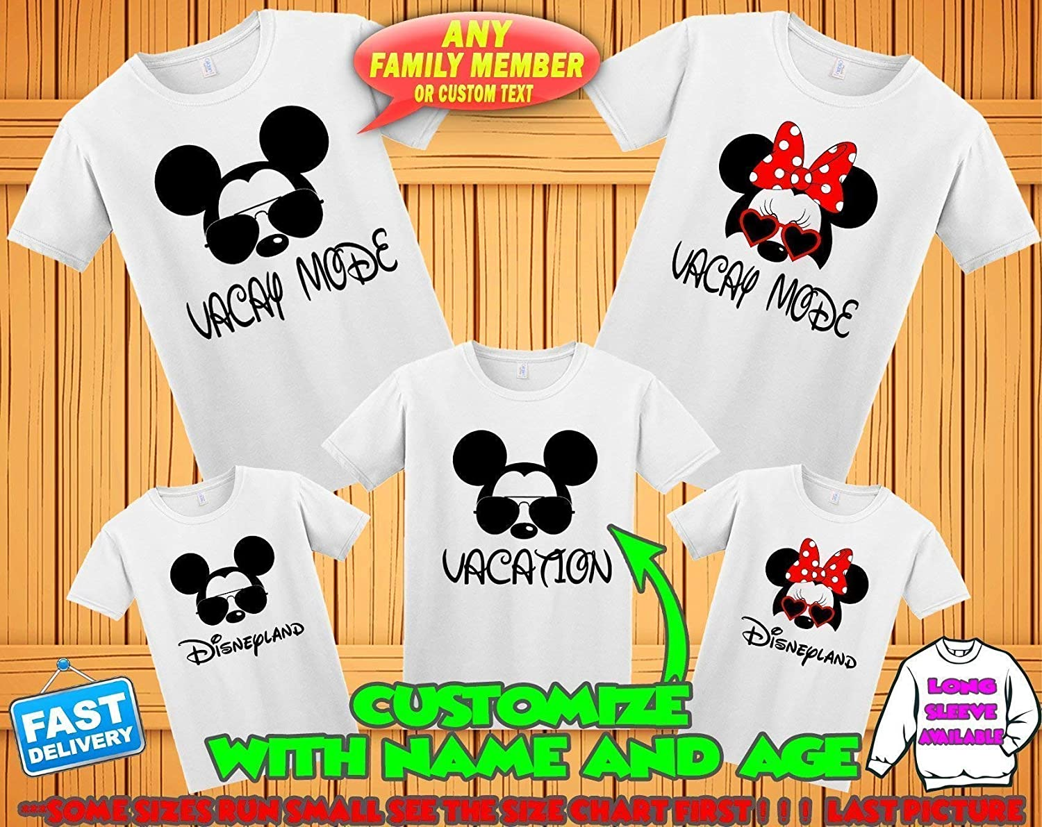 Amazon Disney Family Matching Custom T Shirts Family Vacation