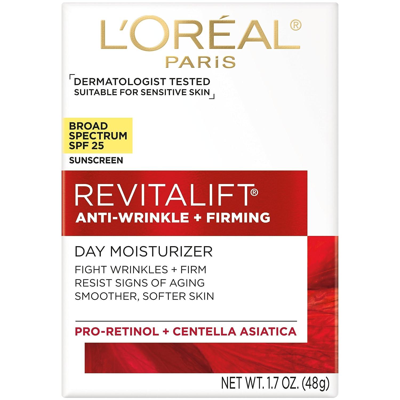 a4dcf484ab1 Amazon.com  L Oréal Paris Skincare Revitalift Face Moisturizer with Broad  Spectrum SPF 25