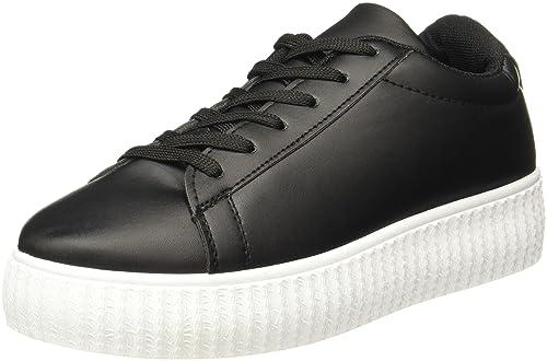 buy popular 229c5 08bb5 Lavie Women s Black Sneakers-6 UK India (39 EU) (Happy Heels