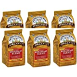Newman's Own Organics Ground Coffee Breakfast Blend, 10 Ounce, (10-Ounce Bag Pack of 6)
