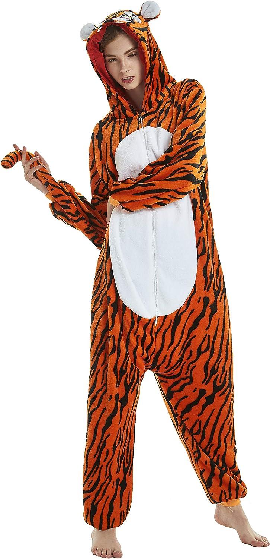 LONGTEN Fleece Onesies Pajamas for Women Men Adult Cartoon Animal Unicorn Christmas Halloween Cosplay Onepiece Costume
