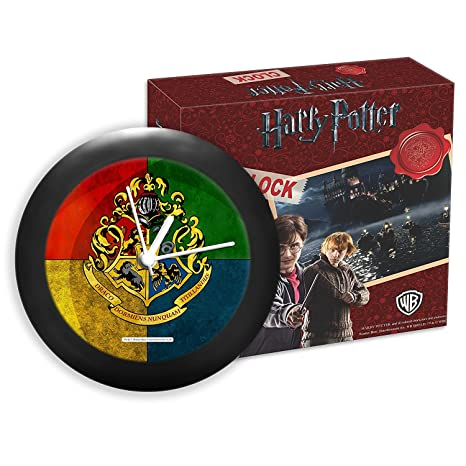 Mc Sid Razz Harry Potter - House Crest Multicolour Table Clock Licensed by Warner Bros,USA | Gift Desk Clock | Table Clock for Home Decor | Gift Set Birthday Gift