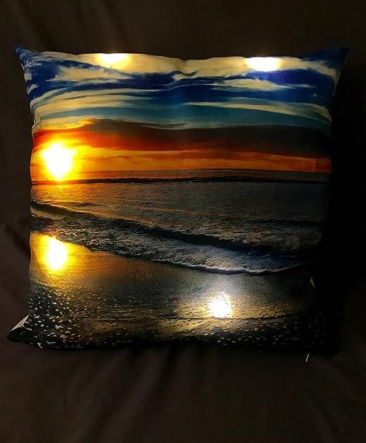 LED Light Up - Funda de almohada cojín - Lámpara de luz ...
