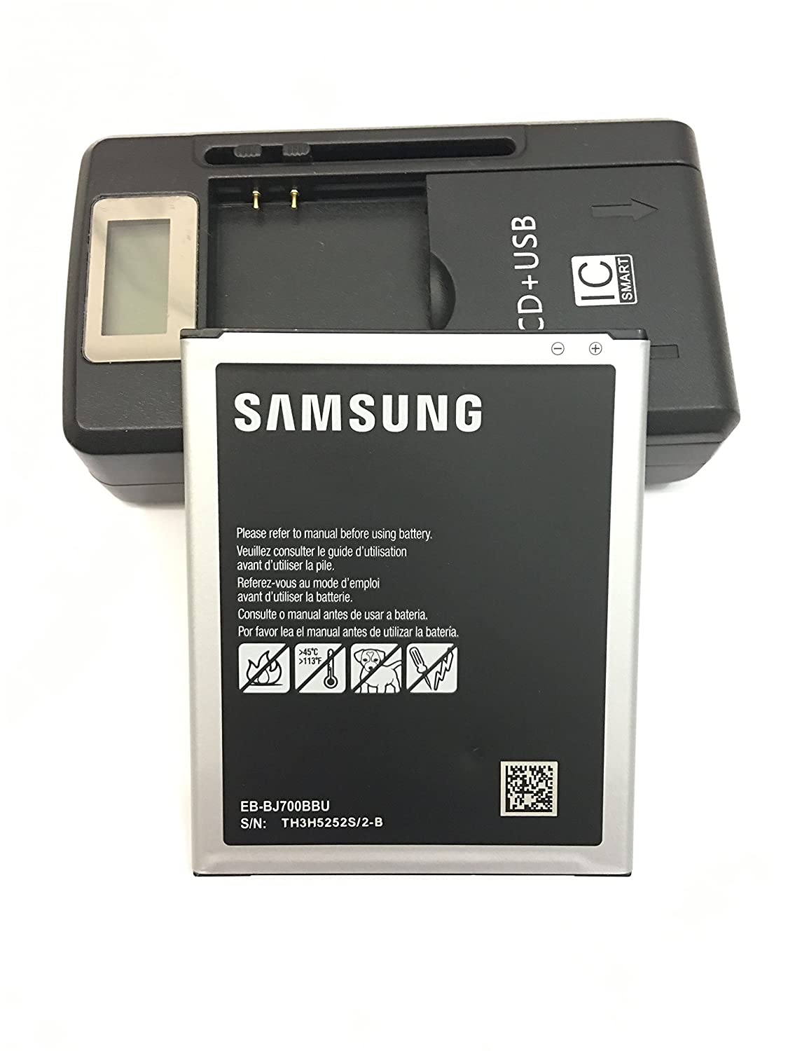 Galaxy J7 EB-BJ700BBU 3000mAh original battery With universal battery charger