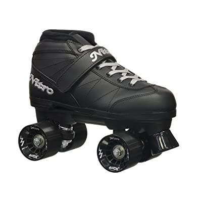 Epic Skates 2016 Epic Super Nitro J13 Indoor/Outdoor Quad Speed Roller Skates, Black : Sports & Outdoors
