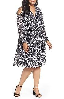 ec519ffcec MICHAEL Michael Kors Womens Plus Animal Print Cold Shoulder Cocktail Dress