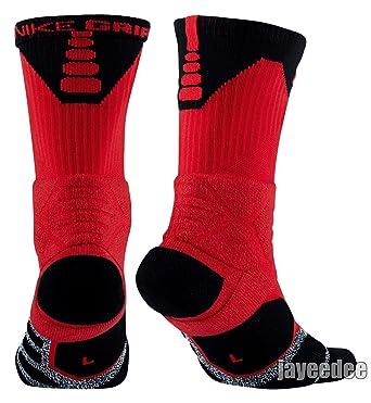 8b9630eaa NIKE Men`s NikeGrip Power Crew Basketball Socks XL Red/Black, Socks -  Amazon Canada