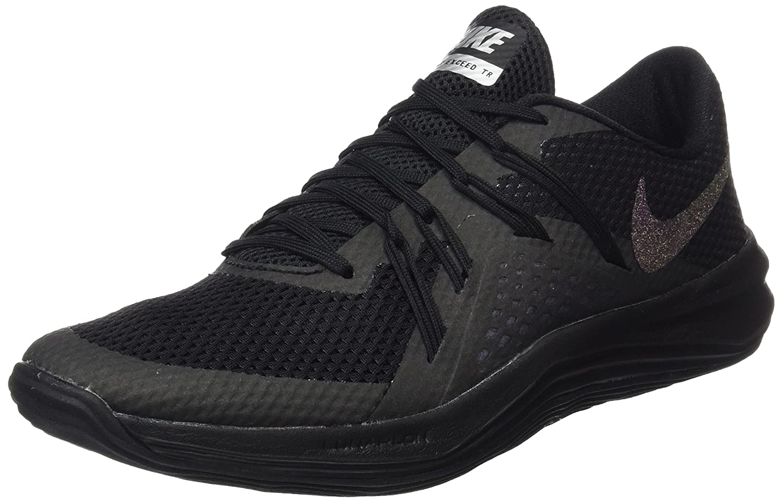 Noir (noir noir Metallic argent) Nike W Lunar Exceed TR MTLC, Chaussures de Gymnastique Femme