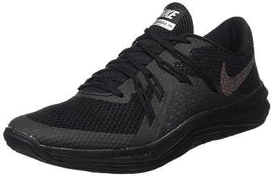 Nike Damen W Lunar Exceed Tr Mtlc Gymnastikschuhe, Schwarz (Black/Black/Metallic Silver), 38.5 EU