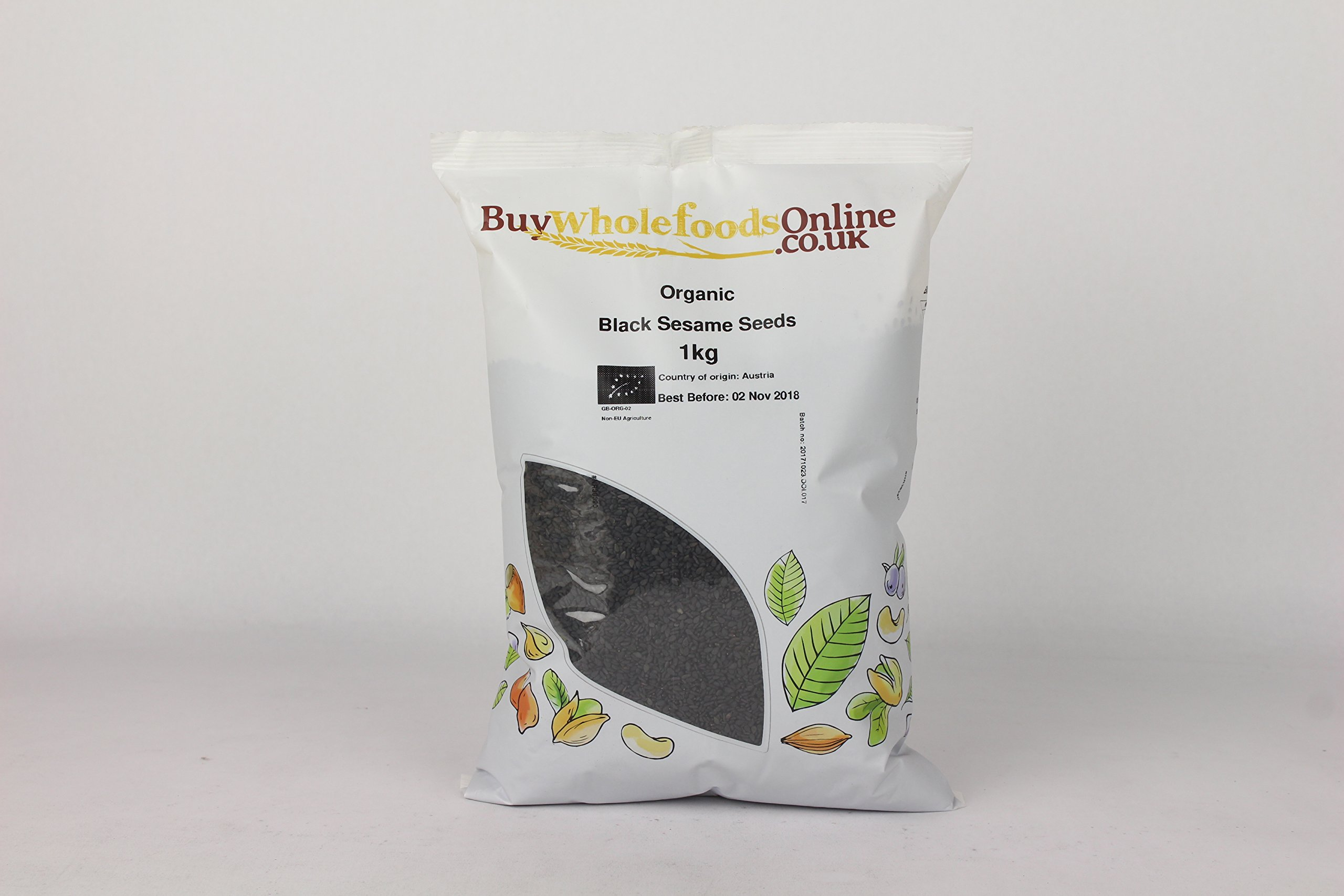 Buy Whole Foods Organic Black Sesame Seeds 1 Kg