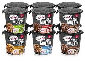 FlapJacked Mighty Muffins, Gluten-Free Variety, 12 Pack | High Protein (20g) + Probiotics