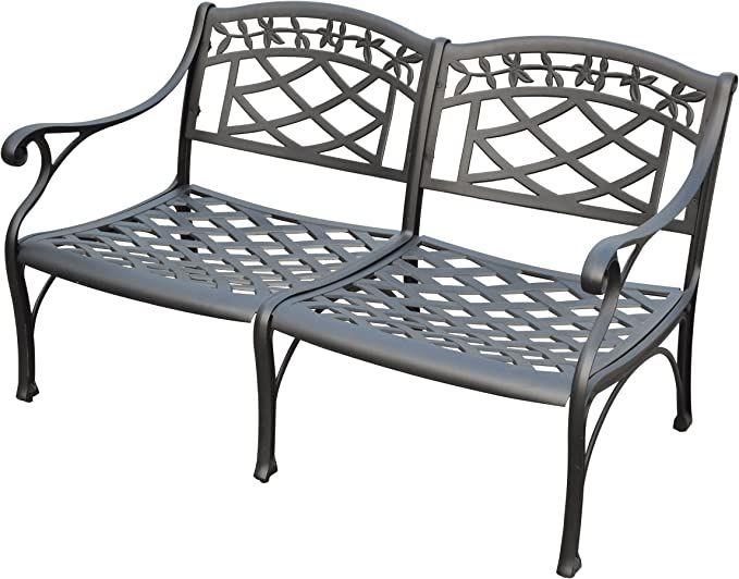 Crosley Furniture CO6104-BK Sedona Solid-Cast Aluminum Outdoor Loveseat - Best For Durability