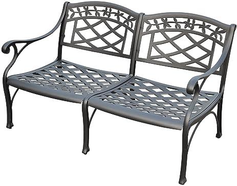 Crosley Furniture Sedona Solid Cast Aluminum Outdoor Loveseat   Black