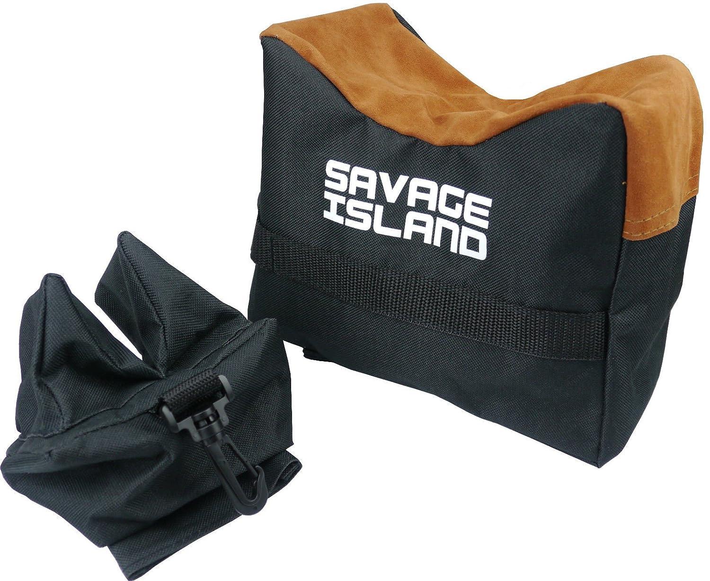 Banco de tiro Frontal y Posterior para Armas de aire comprimido y Rifles Soporte de apoyo Arma de disparo - negro Savage Island