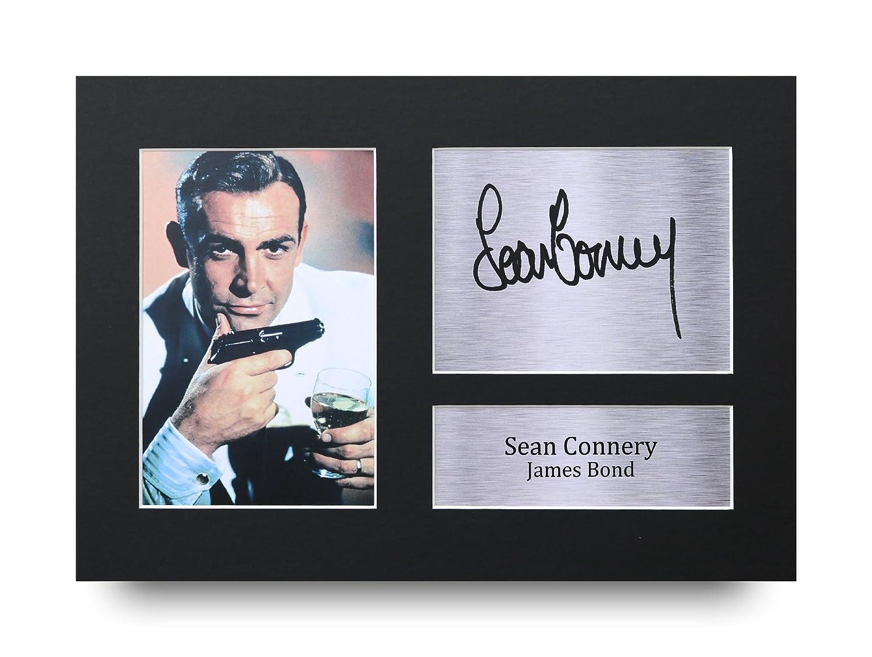 HWC Trading Sean Connery Geschenke Unterzeichneten A4 Gedrucktes Autogramm James Bond Druck-Foto-Bilderanzeige