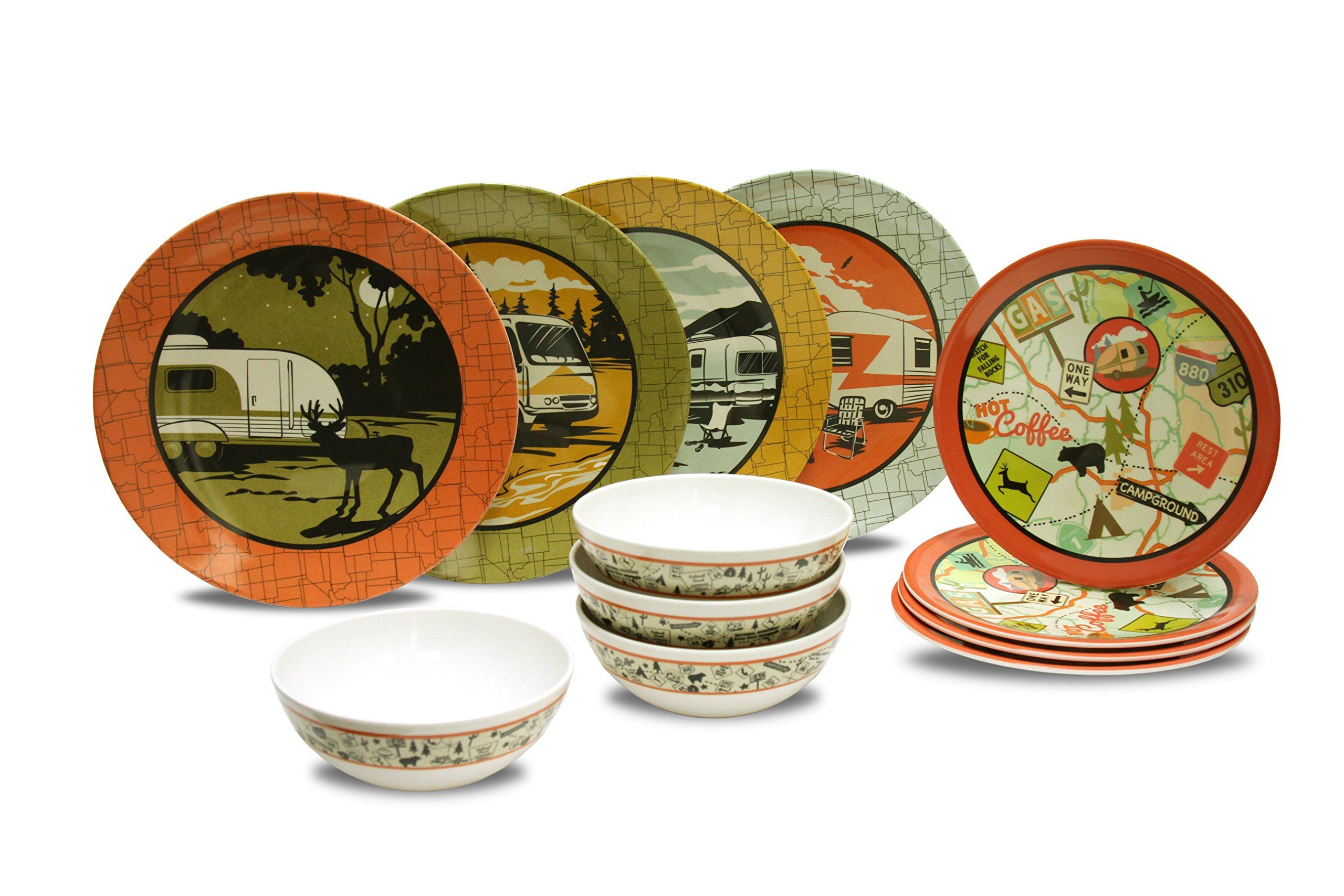Camp Casual CC-001 12-Piece Dish Set by Camp Casual (Image #3)