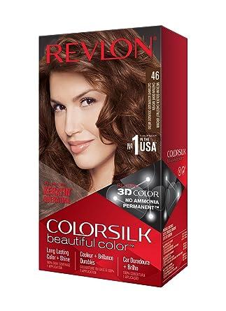 Revlon ColorSilk Tinte de Cabello Permanente Tono #46 Castaño Cobrizo Dorado Medio