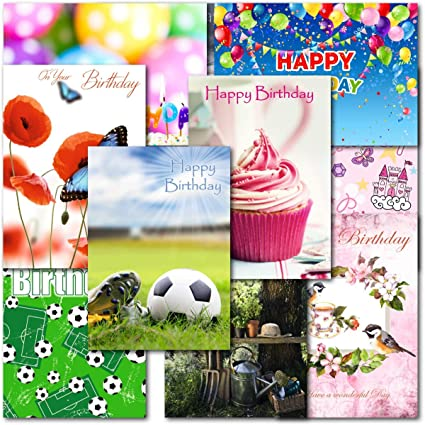 Doodlecards Pack of 10 Square Female Birthday Cards
