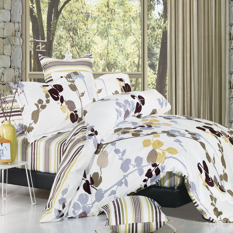 amazoncom north home vintage 4piece duvet cover set queen size home u0026 kitchen