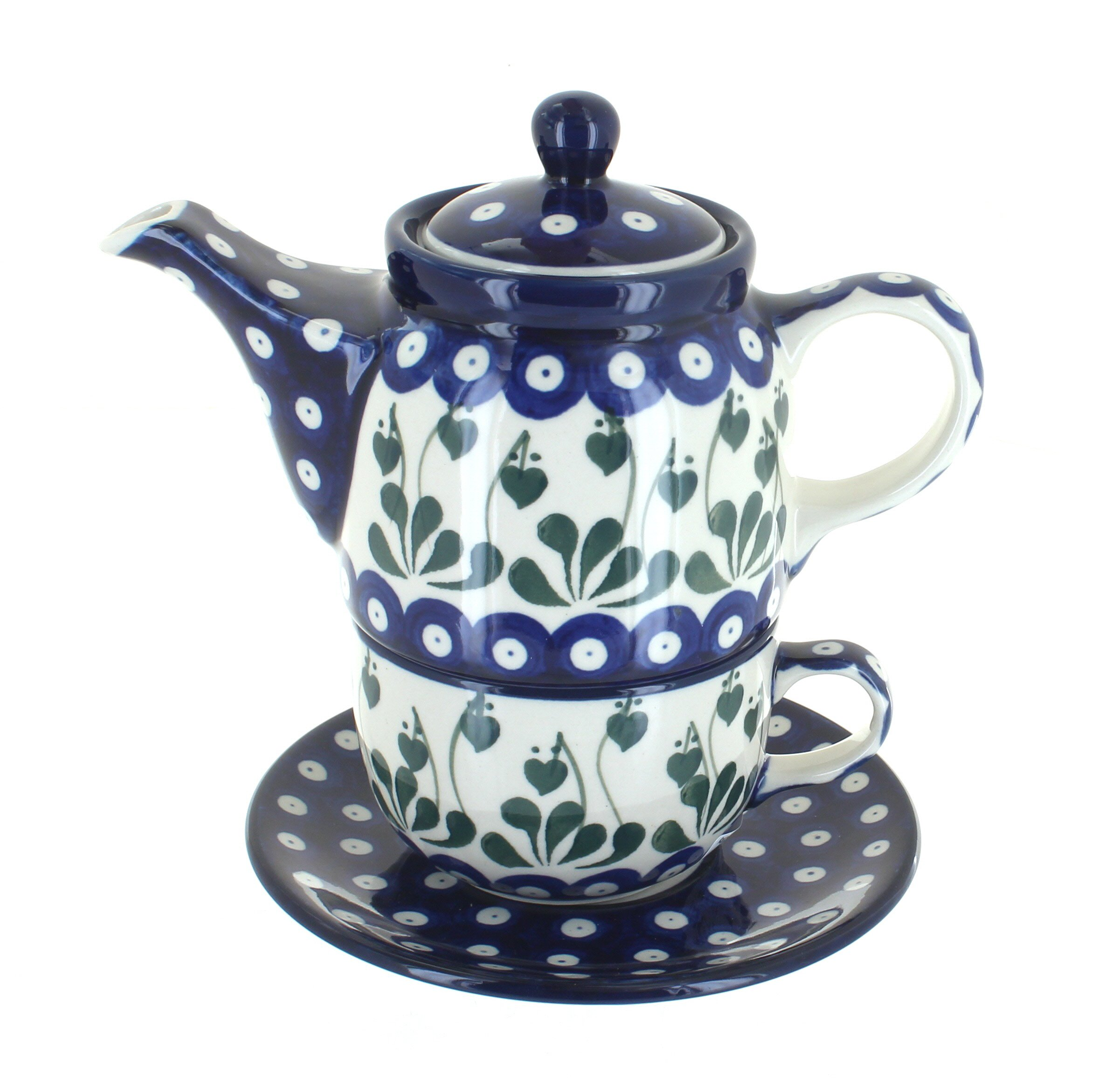 Polish Pottery Alyce Tea for One by Polmedia Polish Pottery