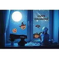 UMIPUBO Zucca Halloween Adesivi Elettricità Statica Cranio Halloween Sticker Accessori Halloween Finestra Adesivi per Halloween Party Decorazione 4 fogli/set(Halloween)