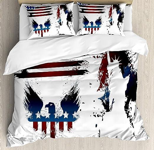 Juego de funda nórdica American Flag 3 PCS, conjunto con símbolo ...