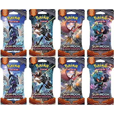 Pokemon TCG Sun & Moon - Burning Shadows 8 Booster Pack Bundle: Toys & Games