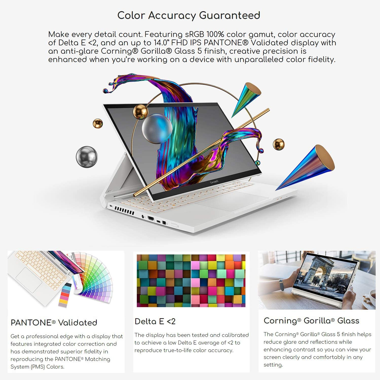 Acer ConceptD 3 Ezel CC314 - 72G-72SX Convertible Creator Laptop