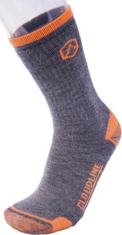 Medium Cushion for Men /& Women CloudLine Merino Wool Crew Hiking /& Trekking Socks