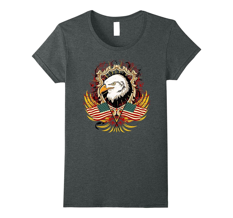 Bald Eagle, Vintage Heraldic USA Emblem T-shirt Design