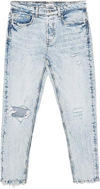Zara 6045 481 Pantalones Vaqueros Para Hombre Azul 54 Amazon Es Ropa Y Accesorios