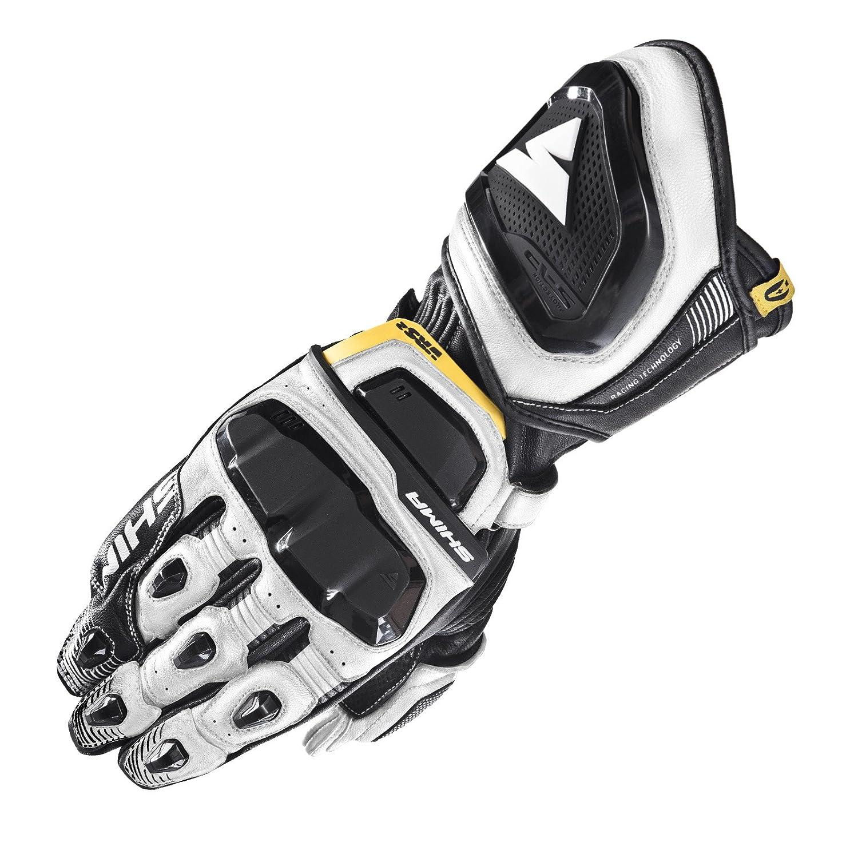 S-XXL Touchscreen Kangaroo Leder Sport Schutz Sommer 2018 Motorrad Handschuhe f/ür M/änner SHIMA VRS-2 Black and White