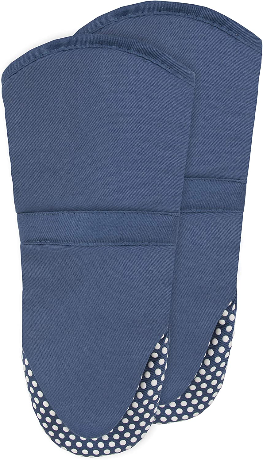 RITZ Royale 051224 Silicone Oven Mitt, 2-Pack, Federal Blue